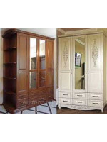 Стиль шкафа для спальни из дерева