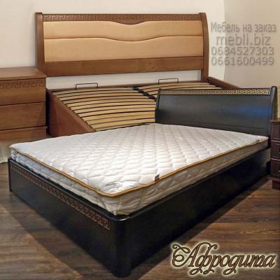 Деревянная двуспальная кровать Афродита
