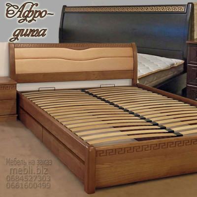 Деревянная кровать с ящиками Афродита
