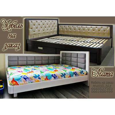 Угловая деревянная кровать Агата