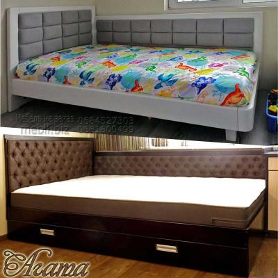 Угловая полуторная кровать Агата