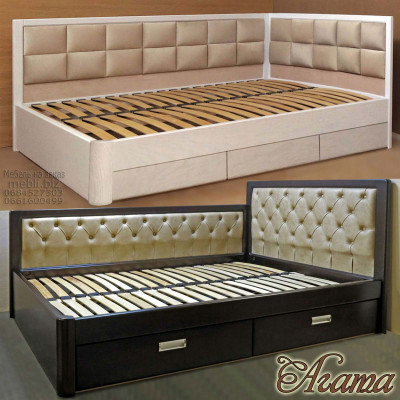 Угловая кровать с ящиками Агата