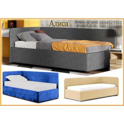 Угловая мягкая кровать Алиса