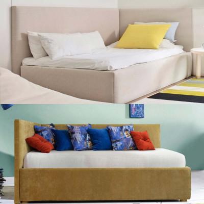 Угловая односпальная кровать Алиса