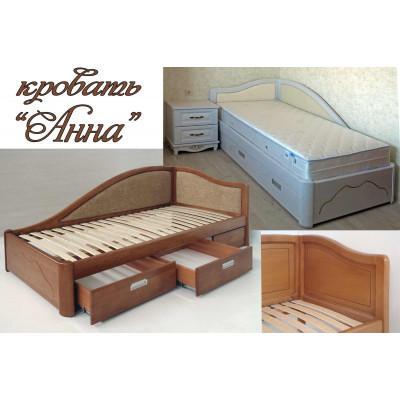 Угловая деревянная кровать Анна