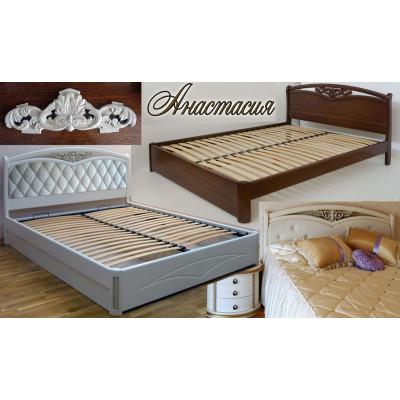 Деревянная двуспальная кровать Анастасия