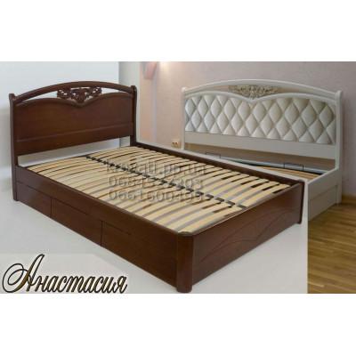 Деревянная кровать с ящиками Анастасия