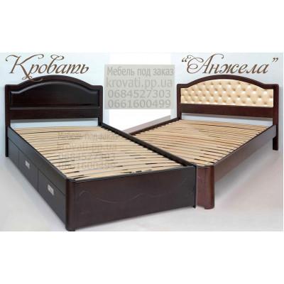 Деревянная односпальная кровать Анжела