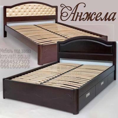 Деревянная кровать с ящиками Анжела