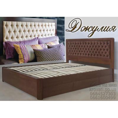 Деревянная кровать с ящиками Джулия