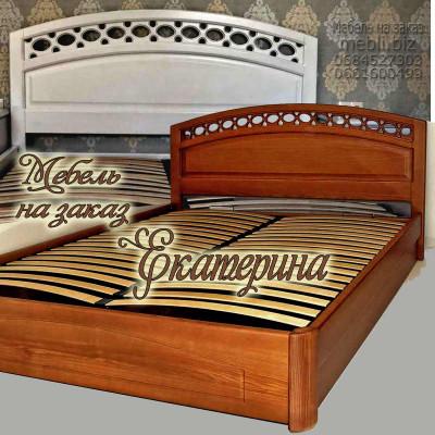 Деревянная двуспальная кровать Екатерина