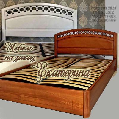 Деревянная полуторная кровать Екатерина