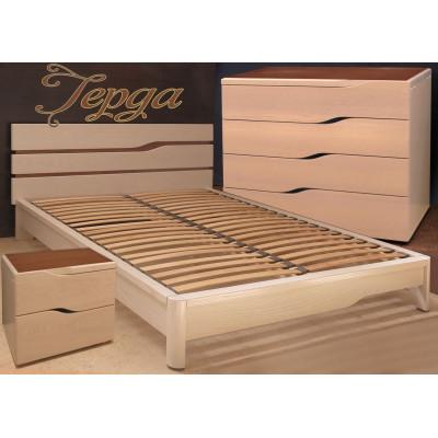 Деревянная двуспальная кровать Герда