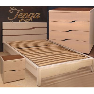 Деревянная полуторная кровать Герда