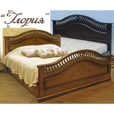 Деревянная двуспальная кровать Глория