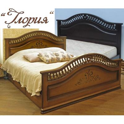 Деревянная полуторная кровать Глория