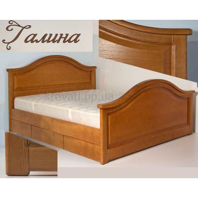 Деревянная кровать с ящиками Галина