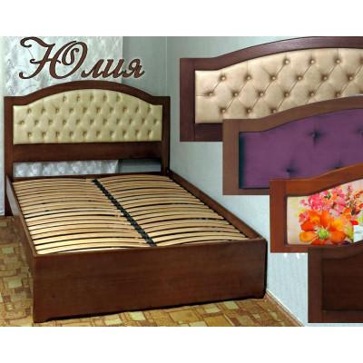Деревянная двуспальная кровать Юлия
