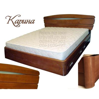 Деревянная двуспальная кровать Карина