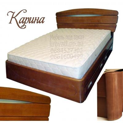 Деревянная полуторная кровать Карина