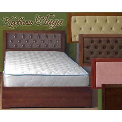 Деревянная двуспальная кровать Лада