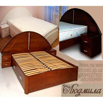Деревянная полуторная кровать Людмила