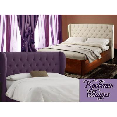 Деревянная двуспальная кровать Лаура