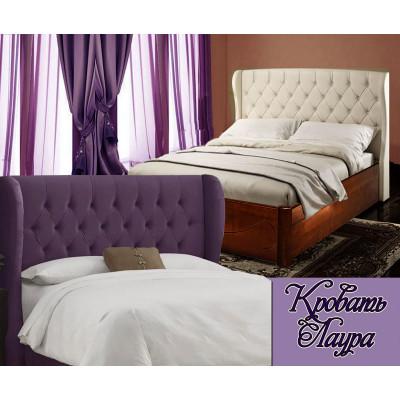 Деревянная полуторная кровать Лаура