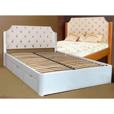 Деревянная кровать с ящиками Луиза