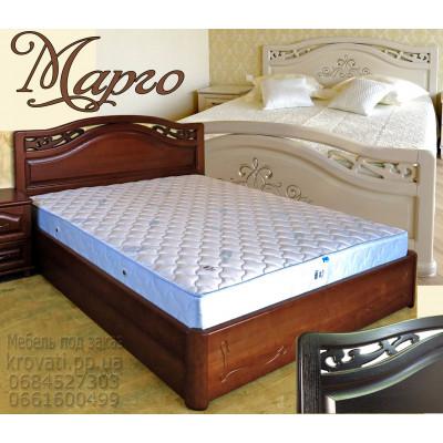 Деревянная двуспальная кровать Марго