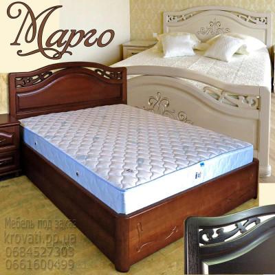 Деревянная полуторная кровать Марго