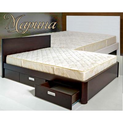 Деревянная двуспальная кровать Марина
