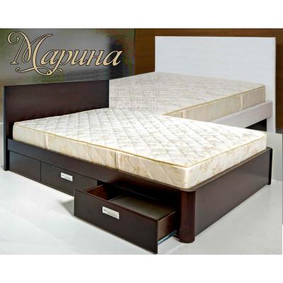 Деревянная полуторная кровать Марина