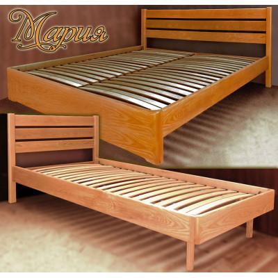 Деревянная двуспальная кровать Мария