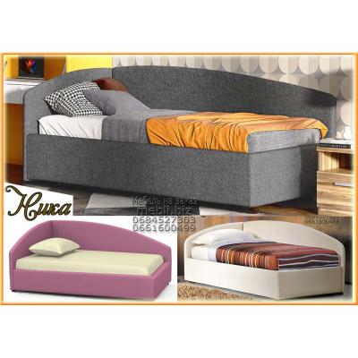 Угловая мягкая кровать Ника