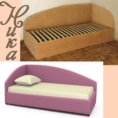 Угловая односпальная кровать Ника