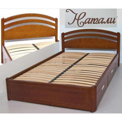 Деревянная полуторная кровать Натали