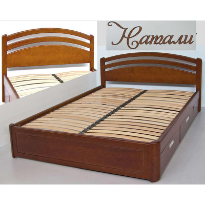 Деревянная кровать с ящиками Натали