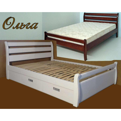 Деревянная двуспальная кровать Ольга