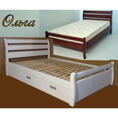 Деревянная полуторная кровать Ольга