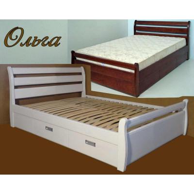 Деревянная кровать с ящиками Ольга