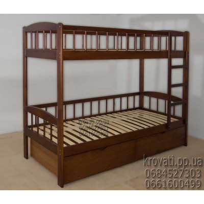 Деревянная кровать с ящиками Олеся