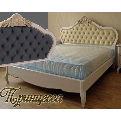 Деревянная двуспальная кровать Принцесса