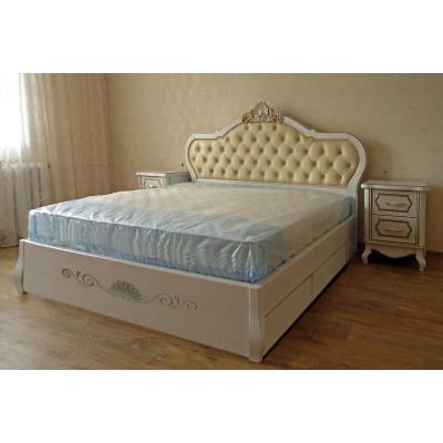 Деревянная кровать с ящиками Принцесса