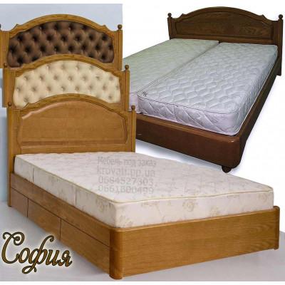 Деревянная полуторная кровать София