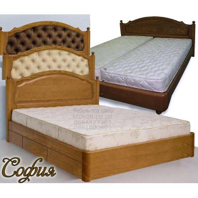 Деревянная кровать с ящиками София