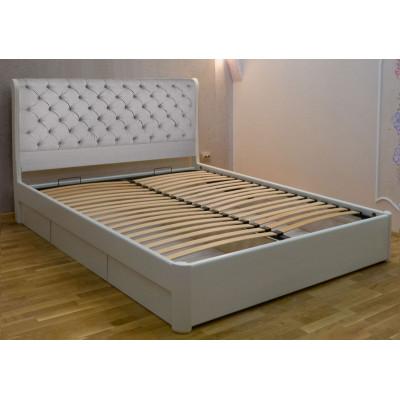 Деревянная двуспальная кровать Шарлотта