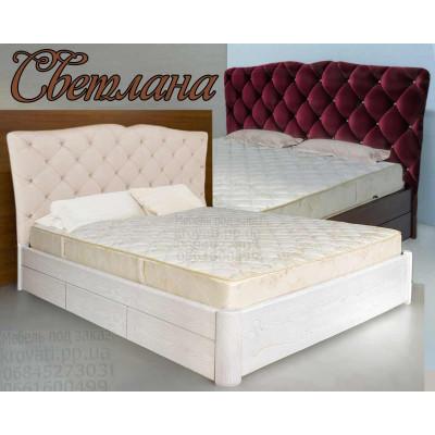 Деревянная двуспальная кровать Светлана