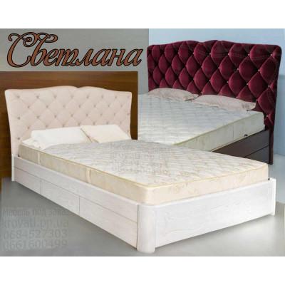 Деревянная полуторная кровать Светлана