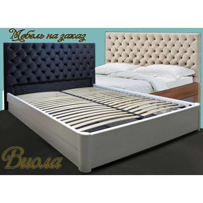 Деревянная двуспальная кровать Виола